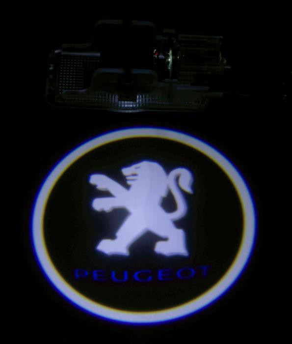led logo projektor peugeot 206 207 306 307 406 408 508 607. Black Bedroom Furniture Sets. Home Design Ideas